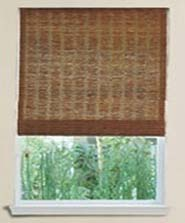 Privacy lining bamboo blinds