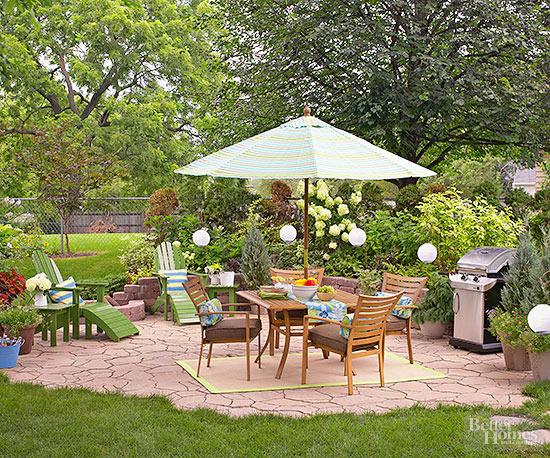 tự thiết kế sân vườn - lót đá sàn
