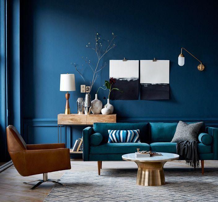 phòng màu xanh