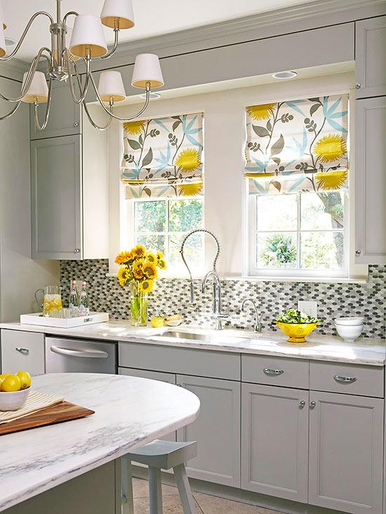 trang trí - Chọn Màn Cửa Cho Cửa Sổ Nhà Bếp